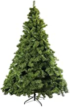 JEFEE Hinged Artificial Christmas Pine Tree, Premium Artificial Tree with Solid Foldable Metal Stand, 5ft Green (560Tips)