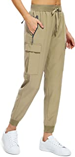 CAMEL CROWN Womens Hiking Pants Lightweight Quick Dry Capri Pants with Pockets Athletic Workout Yoga Jogger Cargo Capris