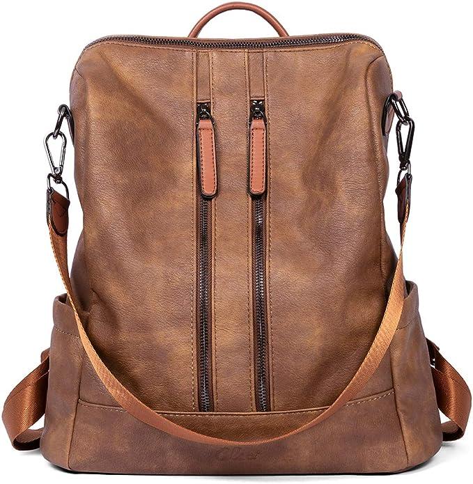 Cluci Women Backpack Purse Leather Fashion Travel Casual Detachable Ladies Shoulder Bag