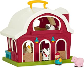"Battat – Big Red Barn – Animal Farm Playset for Toddlers 18M+ (6Piece), Dark Red, 13.5"" Large x 9"" W x 12"" H"
