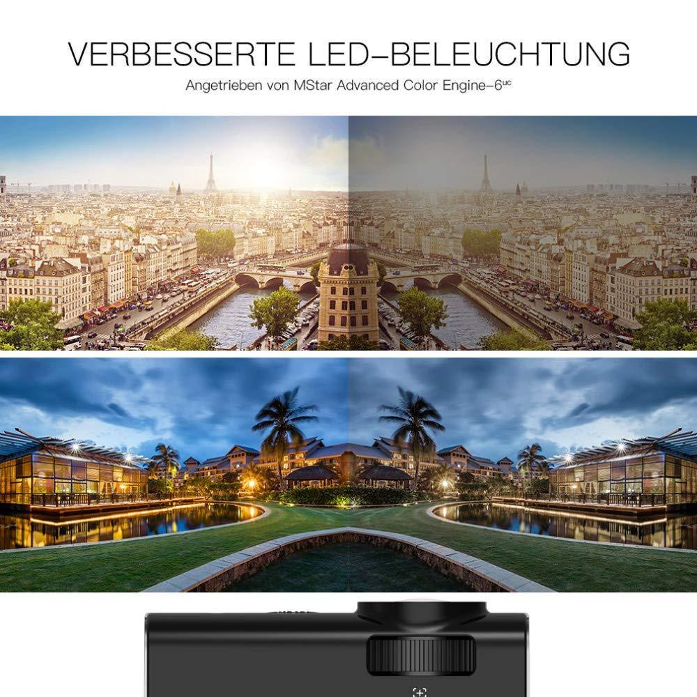 ZXGHS LCD Proyector De Cine En Casa, 30-150 Pulgadas De Pantalla/Proyector LCD 1080P De Pantalla USB Portátil Mini Proyector del Teatro Casero: Amazon.es: Hogar