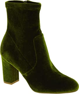 Steve Madden Luxury Fashion Womens 5061GREEN Green Ankle Boots | Season Outlet