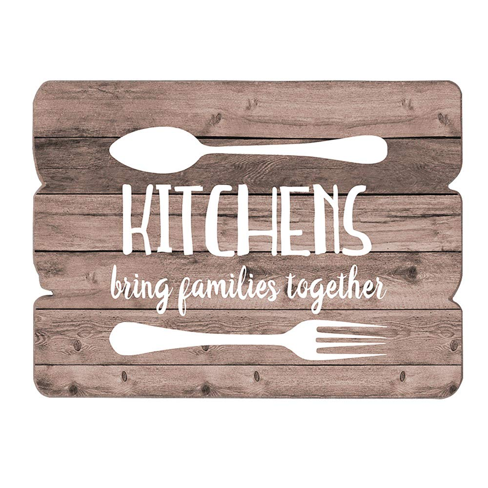 Amazon Com Mode Home Farmhouse Kitchen Wall Decor Wood Art Sign Signs Kitchens Bring Families Together