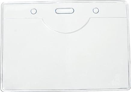 50�St�ck PVC-Kunststoff-Lanyards f�r Namensschilder, von Tomorrow, 9,8�x 7�cm, 9,5�x 5,5�cm, PVC, transparent, mit Taschen, �ber Fernbedienung : B�robedarf & Schreibwaren