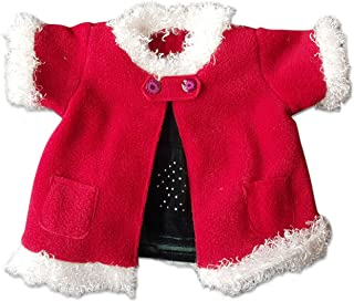 Red Christmas Coat & Skirt Outfit Teddy Bear Clothes Fits Most 14