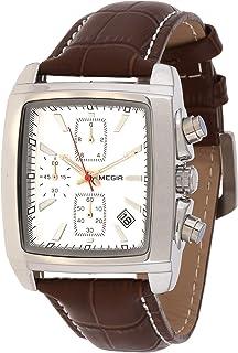 ساعة كوارتز للرجال من ميجر بشاشة عرض كرونوغراف وسوار من الجلد - طراز 2028G