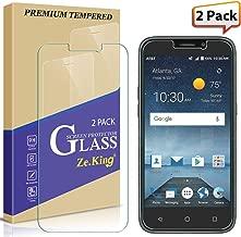 [2-Pack] Maven 3 Z835 Tempered Glass Screen Protector, Prestige 2 N9136/ Prelude Plus Z833 Trio Glass, Zeking 2.5D Edge 9H Hardness [Anti Scratch][Anti-Fingerprint], Lifetime Replacement Warranty