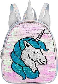 Mochila Unicornio,Regalo de unicornio para niñas,Bolso de lentejuelas reversible Mini mochila bolsa de hombro brillante,Bolsa de baile para niñas
