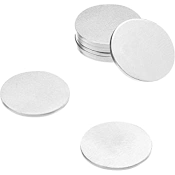 """Lot of 10 10 Gauge 1/"""" Aluminum Discs"""