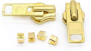 ZipperStop Wholesale Authorized Distributor YKK? Zipper Repair Solution YKK #10 Brass Slider (2 Sliders/pack)