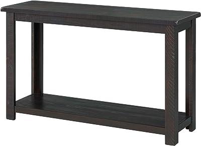 Benjara 48 Inch Rectangular Wooden Console Table, Brown