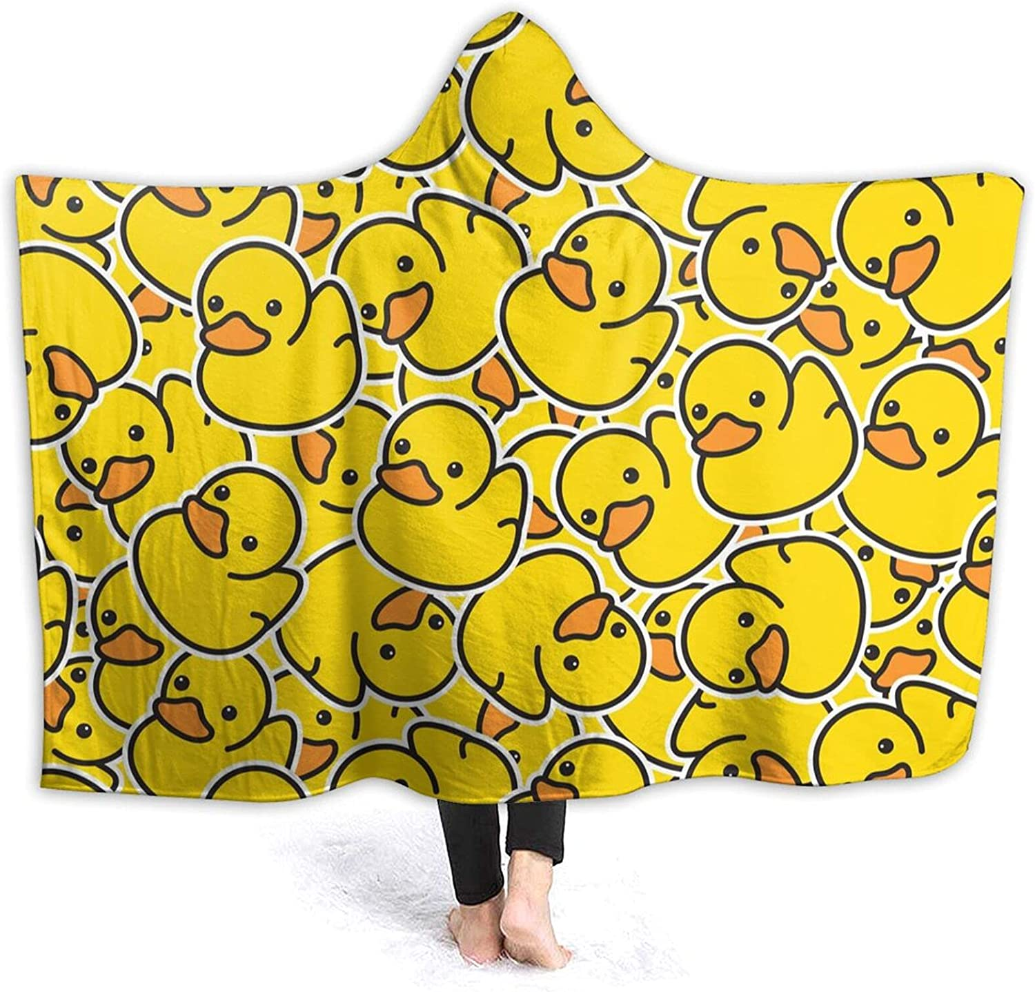 Yello Ducks Hooded Blanket 3D Print T Soft Super Sherpa Selling and 5 ☆ very popular selling Wearable