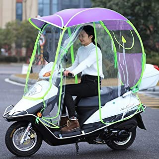 Fully Enclosed Electric Car Transparent Canopy, Motorcycle Rain Cover,Universal Motor,Scooter,Cycling Bike Sun Shade Rain ...
