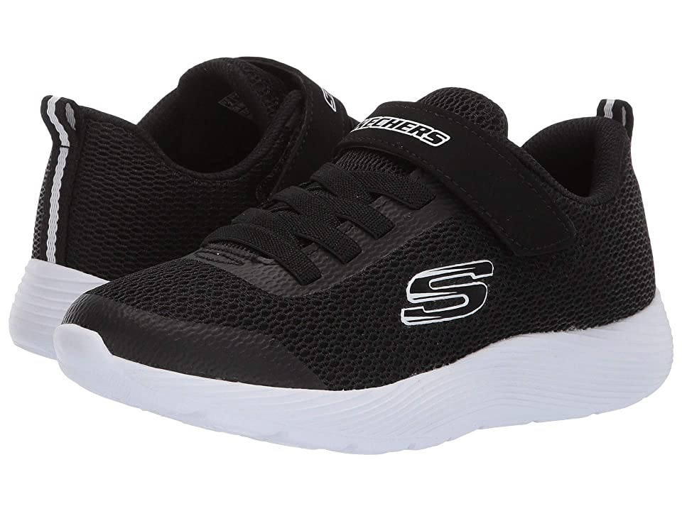 SKECHERS KIDS Dyna Lite (Little Kid/Big Kid) (Black/White) Boy
