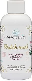 Organic Stretch Mark & Scar Treatment USDA Certified Organic Nourishing Body Oil to Reduce, Remove & Prevent Pregnancy Stretch Marks For New Moms. Perfect Moisturizer For Dry Skin 4oz Era-Organics