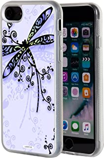 iPhone 8 Case,iPhone 7 Case,AIRWEE Clear Bumper Retro Dragonfly Pattern Anti-Scratch Slim Soft TPU Back Protective Cover Case for Apple iPhone 8/iPhone 7 (4.7 inch)