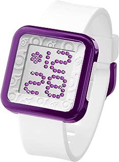 ZERA0(ゼロワン) ZERONE Dazzled White Purple Swarovski Crystal Digital Watch