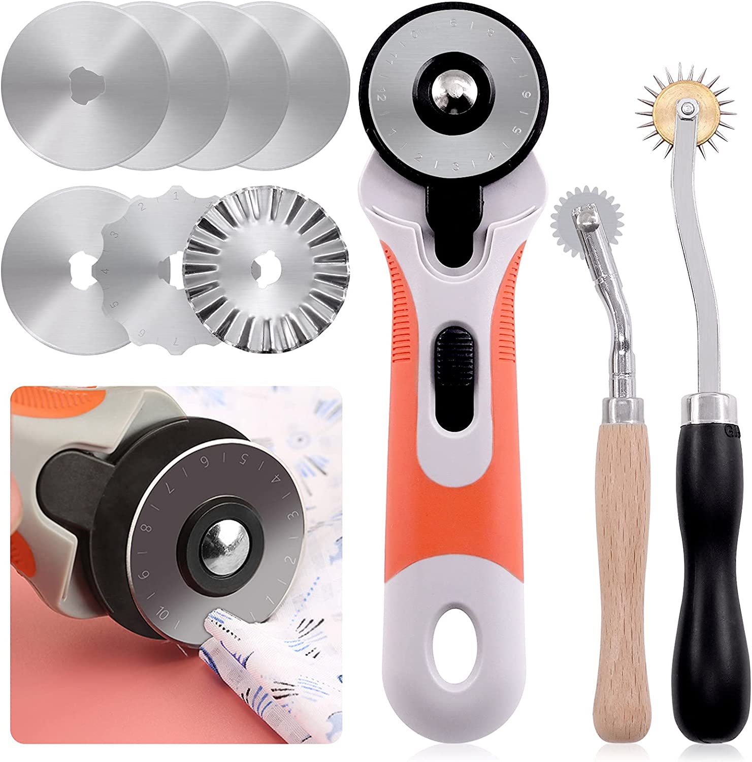 Keadic 10 Pcs Rotary Cutters Include Needlepoint 2 Nippon regular agency Quilting Set Cheap sale