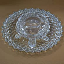 Home-Cart Vastu Feng Shui Crystal Turtle Tortoise with Plate for Good Luck (5.2-inch)