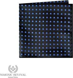 Forget Me Not Pocket Square Handkerchief by Masonic Revival (Black)