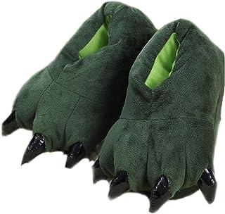 LANFIRE Zapatillas de casa de Felpa Suave Unisex Animal Disfraz de Pata de Garra