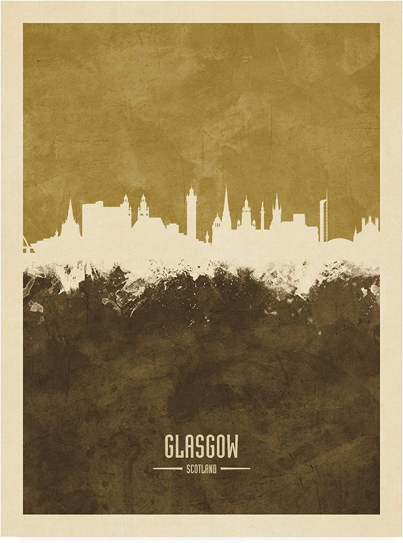 Trademark Fine Art Glasgow Scotland Michael Indianapolis Mall Skyline Ranking TOP16 Tom Brown by