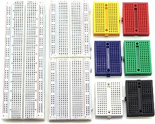 HJ Garden 9pcs Breadboard Assorted Kit 830P 400P 170P Solderless Prototype Breadboard for Arduino, Raspberry Pi, STM32, UNO, MEGA2560