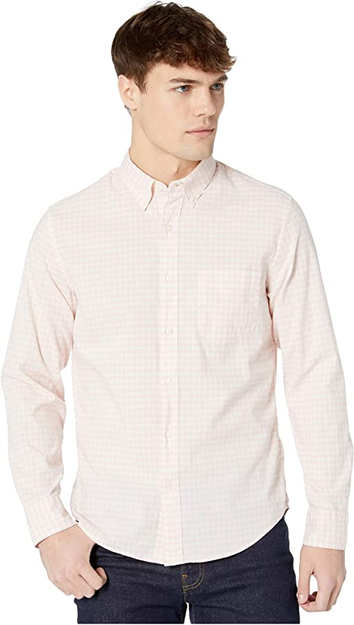 Dobby Gingham Heather Pink