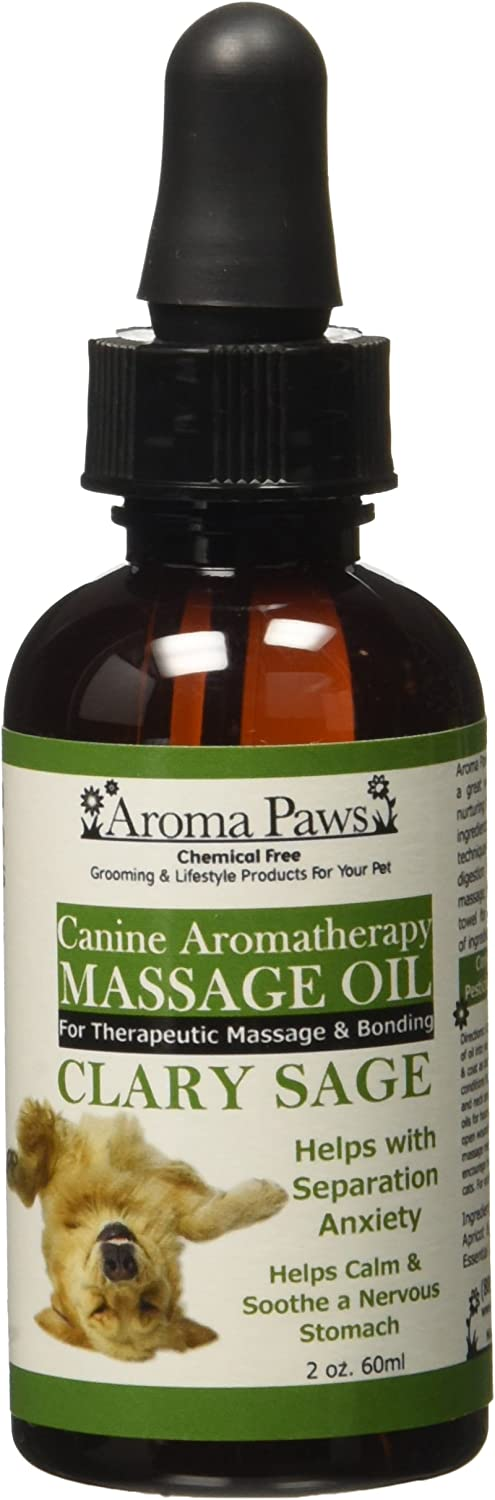 Aroma Paws Massage Oil, 2Ounce, Clary Sage