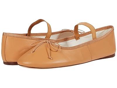 Loeffler Randall Leonie Soft Ballet Flats (Caramel/Crystal) Women