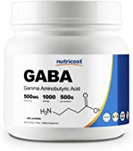 Sponsored Ad - Nutricost Pure GABA 500G Powder (Gamma Aminobutyric Acid) (500 Grams/1.1 pounds)
