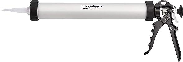 Amazon Basics Aluminium Sealant Sausage Caulking Gun -600ml/20oz - 12:1 Thrust Ratio