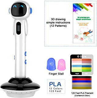 Bolígrafos de impresión 3D, bolígrafo 3D para niños y adultos con filamentos PLA de 1,75 mm con pantalla LED, herramienta de impresión artística para manualidades y manualidades