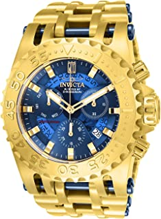 Invicta Men's JT Quartz Watch with Stainless Steel Strap, Gold, 35.6 (Model: 26417)