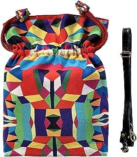2WAY巾着ショルダーバッグ Pポーチ付【Hellow, Vivia! B】オリジナルプリント&ハンドメイド少数販売品