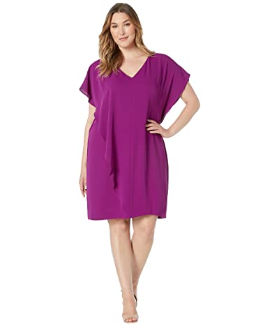 LAUREN Ralph Lauren Plus Size Sazana Dress (Vivid Violet) Women
