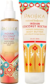 Sponsored Ad - Pacifica Beauty Indian Coconut Nectar Body Butter + Indian Coconut Nectar Hair & Body Spray | Smells like C...