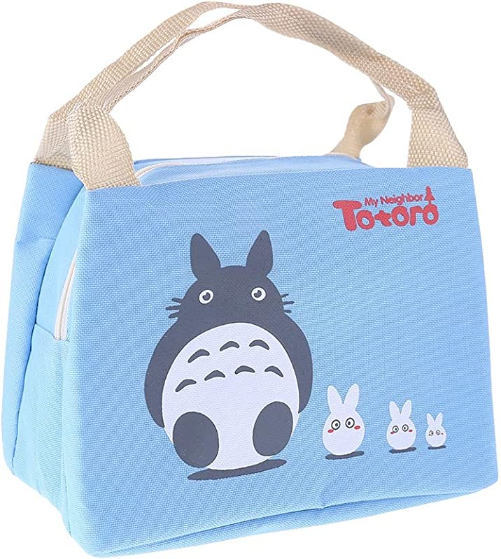 Zzeroe Totoro Lunch Bag Oxford Insulated Soft Leakproof Liner Tote Bag For Picnic Boating Beach Fishing Work School Multi Choices Blue