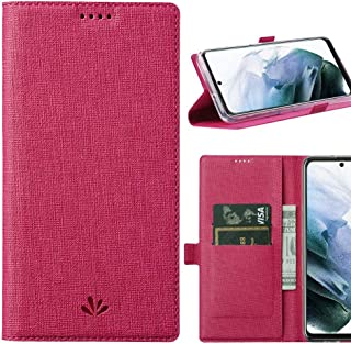 DLHLLC Samsung Galaxy S21 5G Flip Case,Premium Flip Leather Wallet Case Stand Kickstand Card Slot Magnetic Full Body Prote...