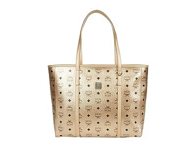 MCM Toni Visetos Shopper Medium (Berlin Gold) Bags