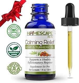 Hemp Oil & Turmeric Anti-Inflammatory for Cats & Dogs - Calms Aches & Pain - Enhances Energy & Reduces Discomfort - Organi...