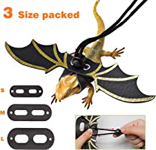 SEVENS Lizard Leash Bearded Dragon, Adjustable Leather Lizard Harness with Wings, 3 Size Optional for Small, Medium and Large Reptiles