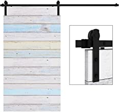 EaseLife 8 FT Heavy Duty Sliding Barn Door Hardware Track Kit,Ultra Hard Sturdy,Slide Smoothly Quietly,Easy Install,Fit 40