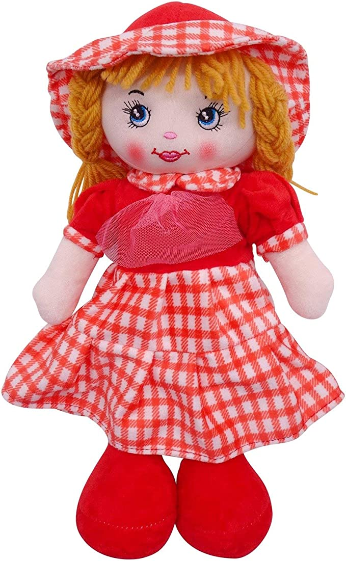 Height 40cm Traditional Rag Doll in Pink Dress /& Cardigan