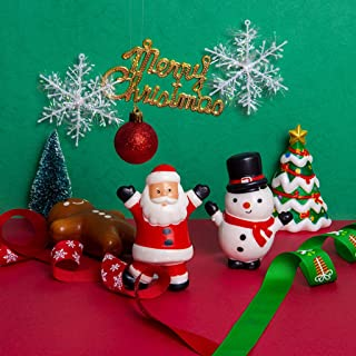 Kawaii Christmas Theme Slow Rising Toy, Snowman / Gingerbread Man / Santa Claus / Christmas Tree Slow Rising Cream Scented Stress Relief Toys Gift (Gingerbread Man)