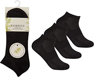 3 Pairs Women's Bamboo Trainer Liner Socks Breathable, Moisture Wicking Size 4-8