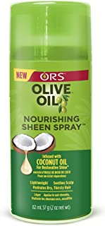 ORS Olive Oil Nourishing Sheen Spray Infused with Coconut for Restorative Shine