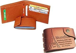 Mundkar Tan Wallet Combo. Pack of 2 Wallets (Tan)