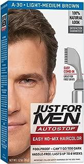 Just For Men AutoStop Men's Hair Color, Light Medium Brown