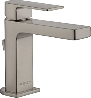 Peerless Xander Single-Handle Bathroom Faucet with Pop-Up Drain Assembly, Brushed Nickel P1519LF-BN